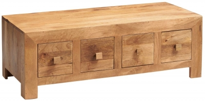 Indian Hub Toko Light Mango Storage Coffee Table