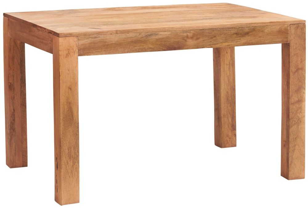 Indian Hub Toko Light Mango Rectangular Dining Table - 120cm