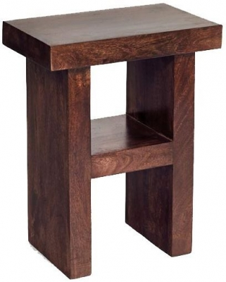 Indian Hub Toko Mango H Shape Corner Table