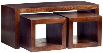 Indian Hub Toko Mango John Long Cubed Nest of Table