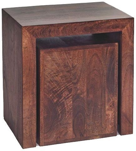 Indian Hub Toko Mango Cubed Nest of Tables