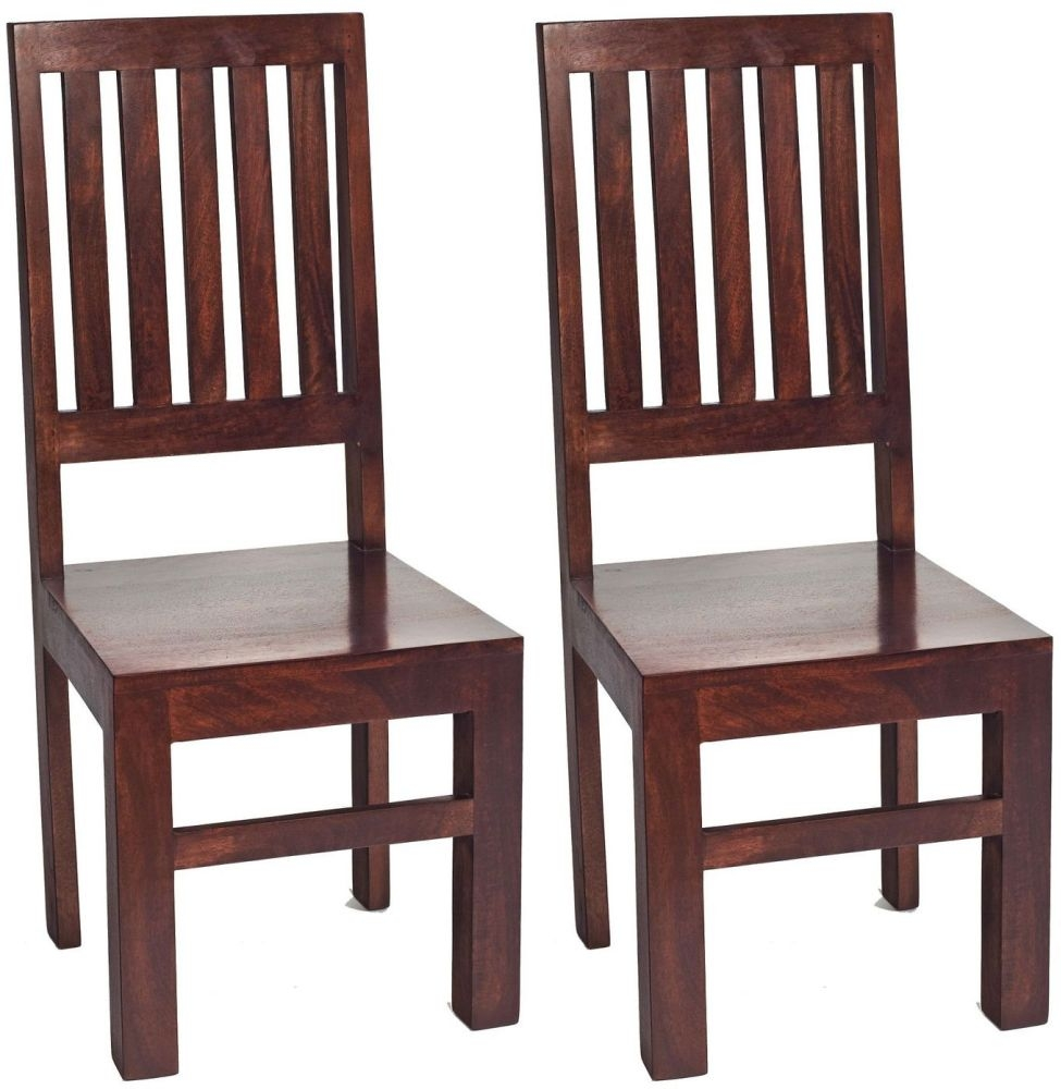 Indian Hub Toko Mango Dining Chair - High Slat Back (Pair)