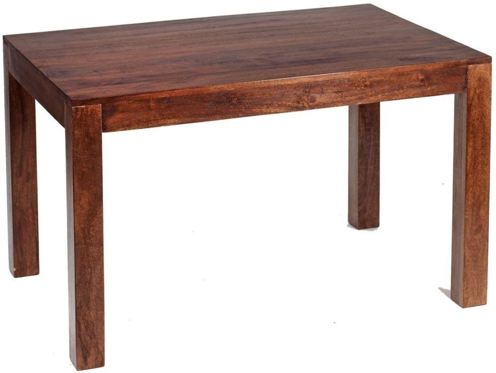 Indian Hub Toko Mango Rectangular Extending Dining Table - 120cm-180cm