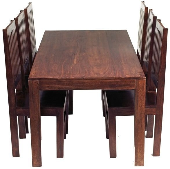 Indian Hub Toko Mango Large Dining Table and 6 Chairs