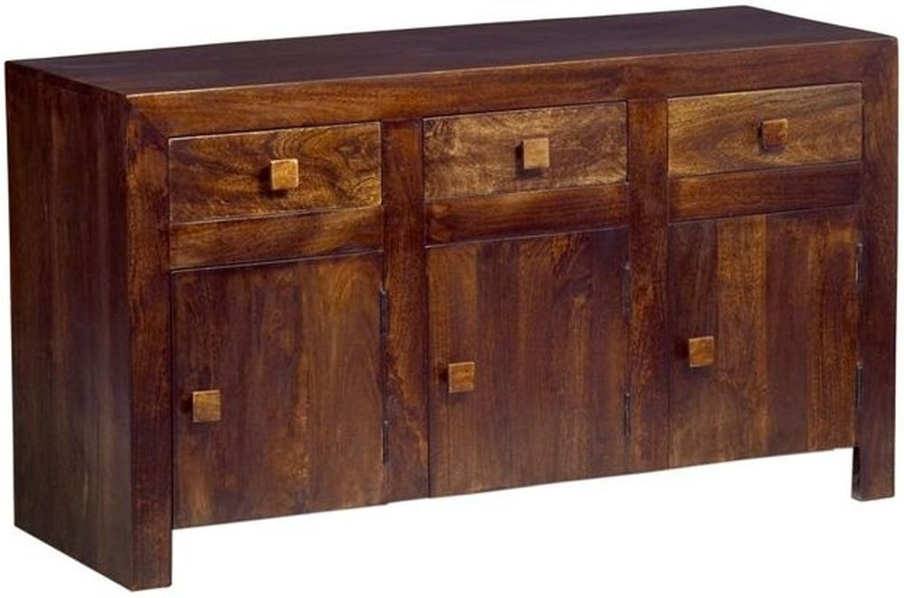 Indian Hub Toko Mango 3 Door 3 Drawer Sideboard