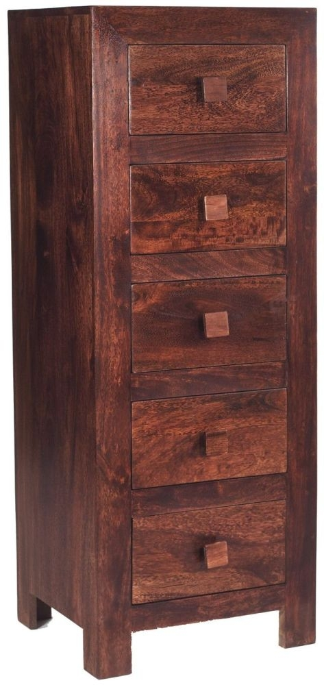 Indian Hub Toko Mango Tall Boy - 5 Drawer