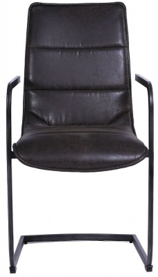 Indus Valley Sachi Suede Faux Leather Armchair