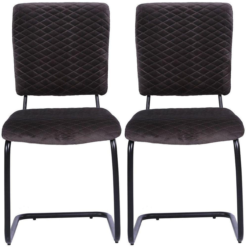 Indus Valley Aero Velvet Fabric Dining Chair (Pair)