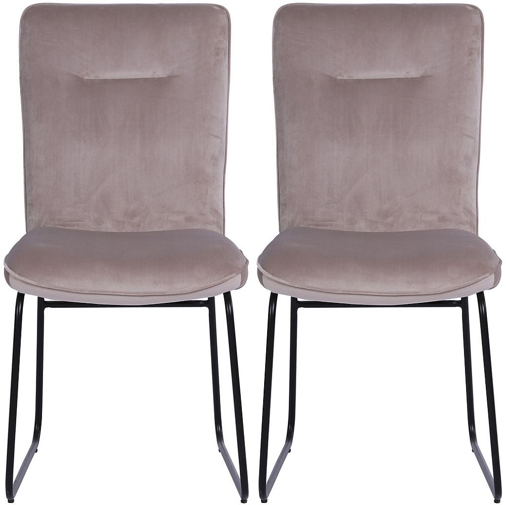 Indus Valley Stella Velvet Fabric Dining Chair (Pair)