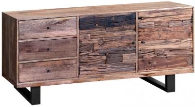 Indus Valley Phoenix Industrial Sideboard - Reclaimed Sleeper Wood and Iron