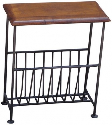 Jaipur Black Iron Magazine Rack
