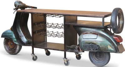 Jaipur Retro Scooter Long Bar Table