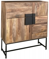 Jaipur Agra Mango Wood 4 Door Tall Cabinet