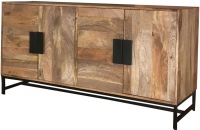 Jaipur Agra Mango Wood 4 Door Wide Sideboard