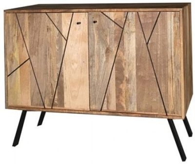Jaipur Amar Small Sideboard - Mango Wood and Iron