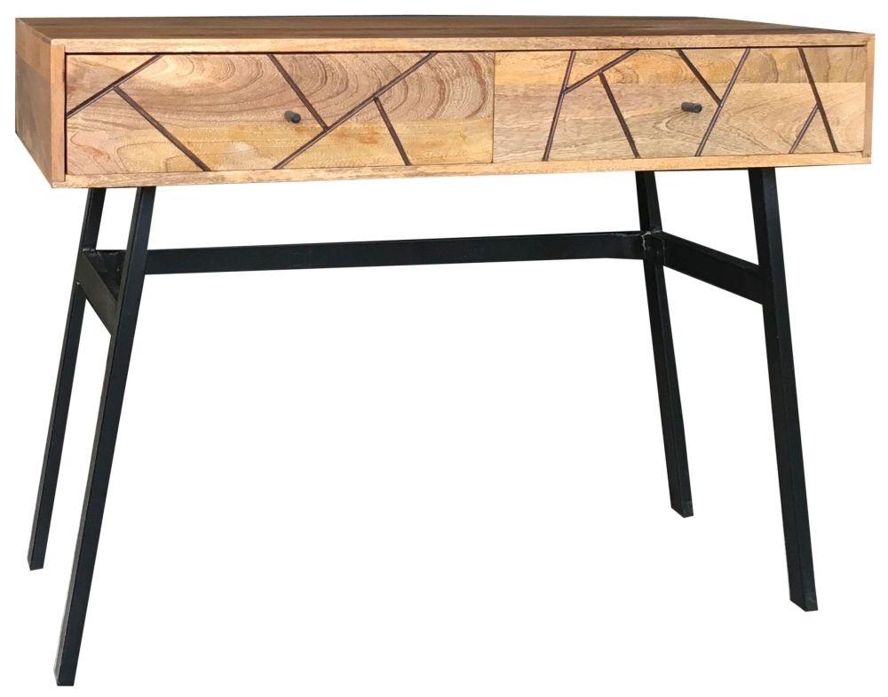 Jaipur Amar Mango Wood 2 Drawer Console Table with Iron Base