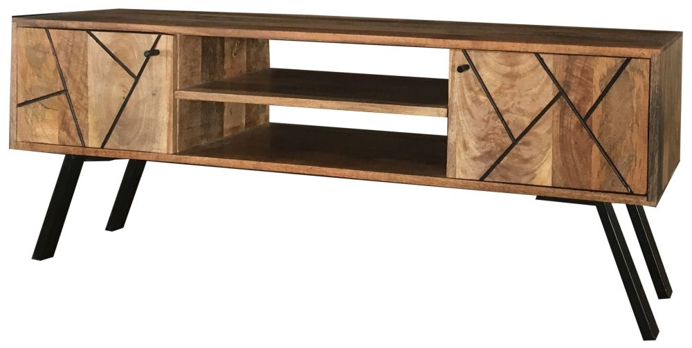 Jaipur Amar Mango Wood and Iron Plazma TV Unit