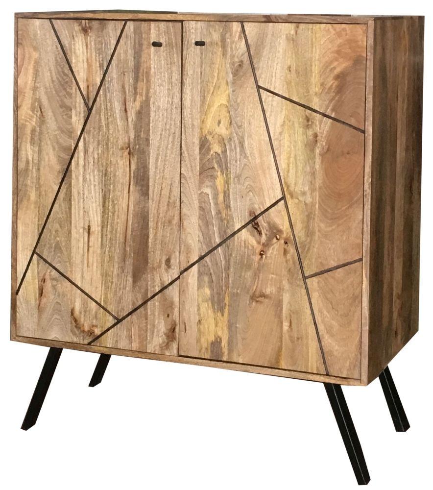 Jaipur Amar Wine Rack - Mango Wood and Iron
