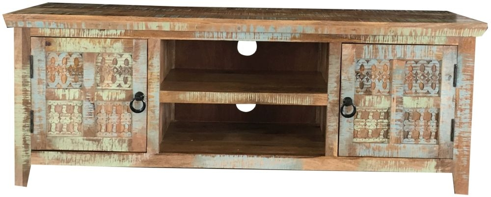 Jaipur Aravali Mango Wood 2 Door Plazma TV Cabinet