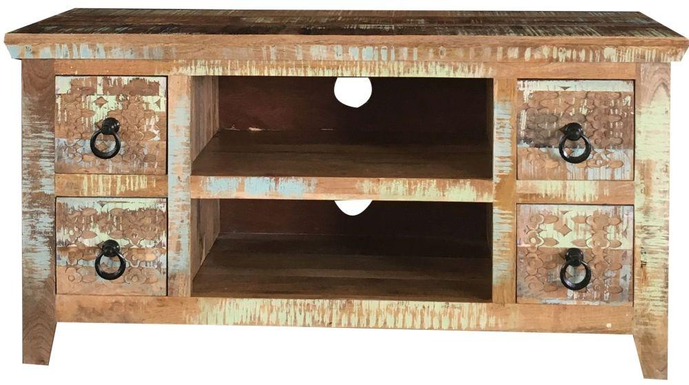 Jaipur Aravali Mango Wood 4 Drawer Plazma TV Cabinet