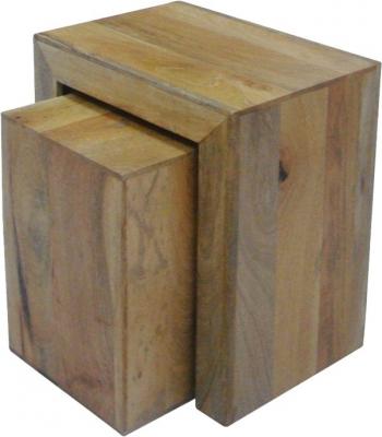 Jaipur Dakota Light Mango Cube Nest of 2 Tables