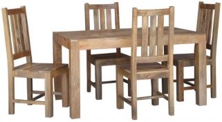 Jaipur Furniture Dakota Light Dining Set - Small with 4 Dakota Chairs