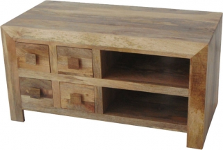 Jaipur Furniture Dakota Light TV Unit - 4 Drawer
