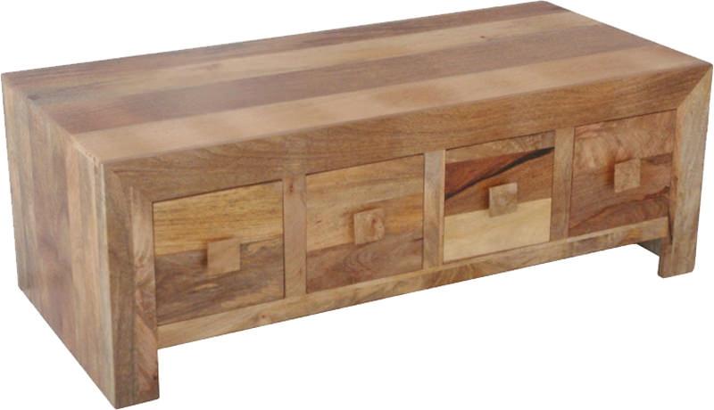Jaipur Furniture Dakota Light Coffee Table - 8 Drawers