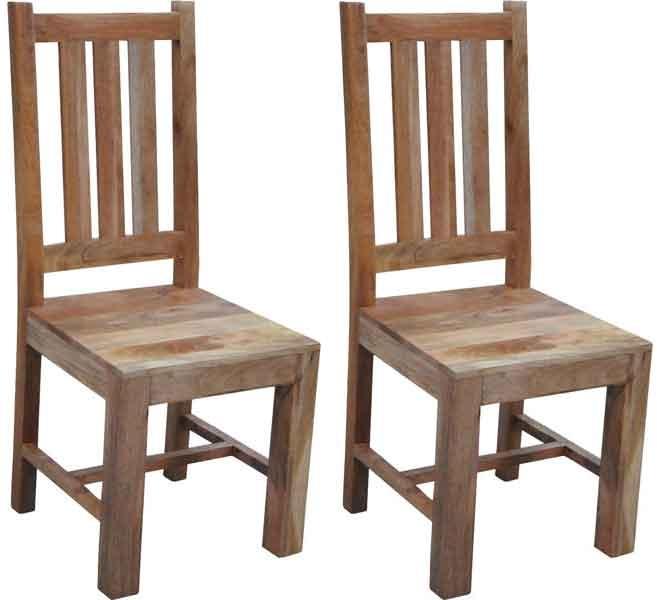Buy jaipur dakota light mango wood dining chair pair
