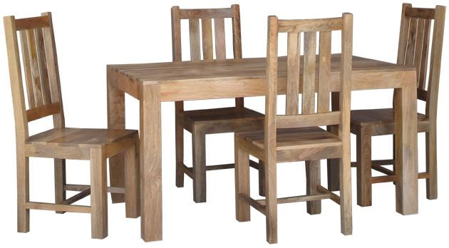 Jaipur Furniture Dakota Light Dining Set - Small with 4 Dakota Chairs