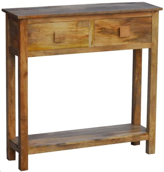 Buy Jaipur Furniture Dakota Light Mini Console Table 2 Drawers Online Cfs Uk