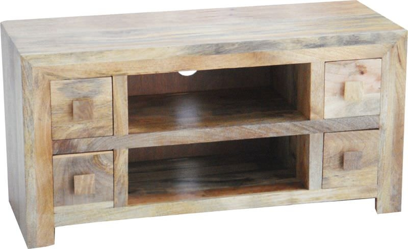 Buy Jaipur Dakota Light Mango Wood Plazma Tv Unit 4