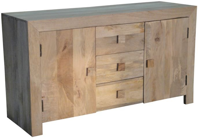 Jaipur Dakota Light Mango Wood Sideboard - 2 Door 3 Drawer