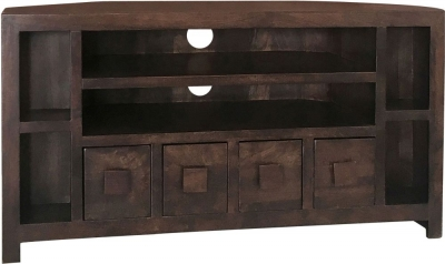 Jaipur Dakota Walnut Mango Wood Corner TV Unit