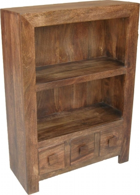Jaipur Dakota Walnut Mango Wood Small Bookcase