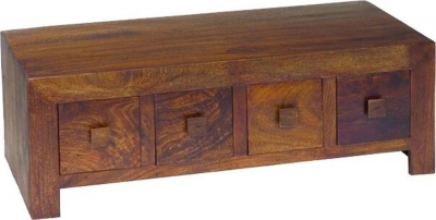 Jaipur Dakota Walnut Mango Wood Storage Coffee Table