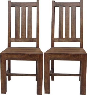 Jaipur Dakota Walnut Mango Wood Dining Chair (Pair)