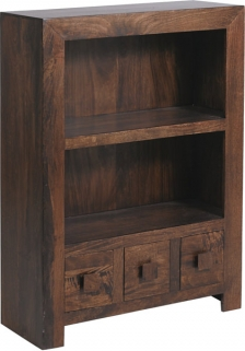 Jaipur Furniture Dakota Walnut Bookcase - Small 1 Shelf 3 Drawers