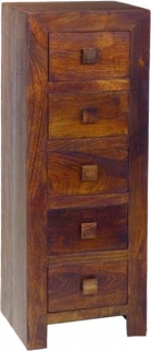 Jaipur Furniture Dakota Walnut Chest of Drawer - 5 Drawers
