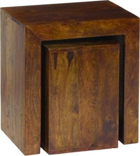 Jaipur Furniture Dakota Walnut Cube Nest of Tables