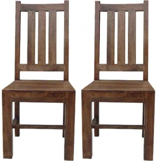 Jaipur Furniture Dakota Walnut Dining Chair (Pair)
