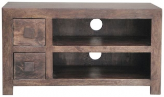 Jaipur Furniture Dakota Walnut Plazma TV Unit - 2 Drawer