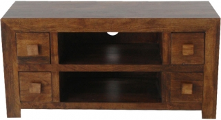 Jaipur Furniture Dakota Walnut Plazma TV Unit - 4 Drawers