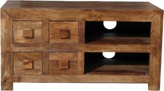 Jaipur Furniture Dakota Walnut TV Unit - 4 Drawer