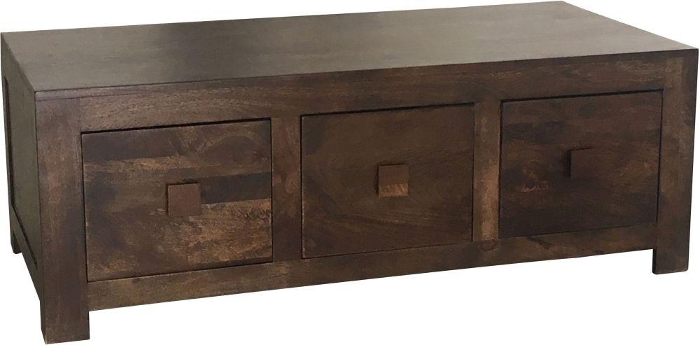 Jaipur Dakota Walnut Mango Wood 6 Drawer Coffee Table
