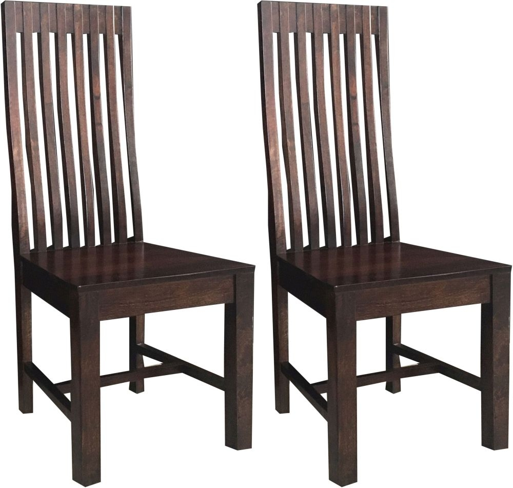 Jaipur Dakota Walnut Mango Wood Geneva Dining Chair (Pair)