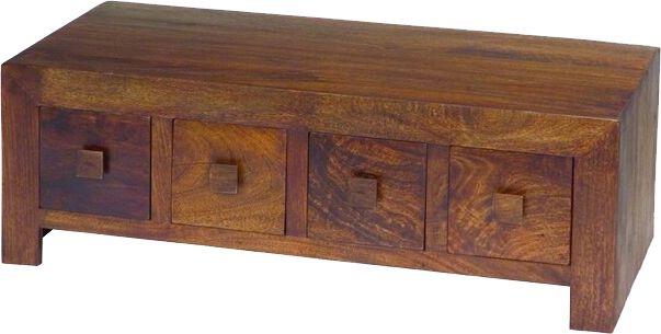 Jaipur Dakota Walnut Mango Wood 8 Drawer Storage Coffee Table