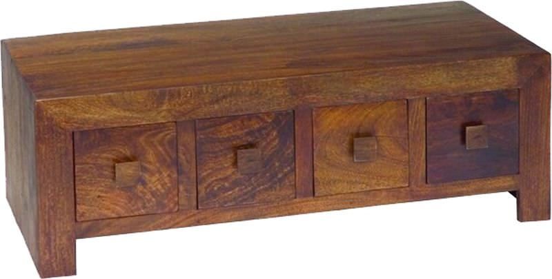 Jaipur Furniture Dakota Walnut Coffee Table - 8 Drawers