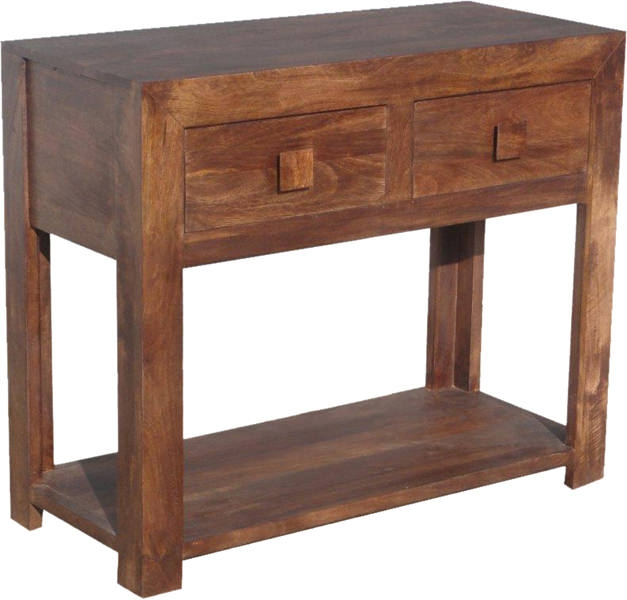 Jaipur Furniture Dakota Walnut Console Table 2 Drawers Jaipur Furniture