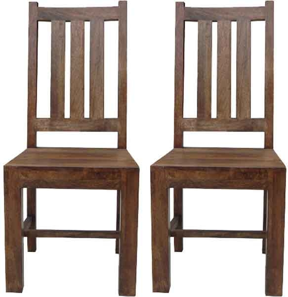 jaipur furniture dakota walnut dining chair pair. Black Bedroom Furniture Sets. Home Design Ideas